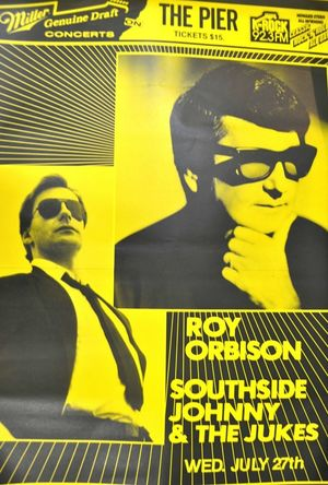 Concert poster from Roy Orbison - Pier 84, New York City, NY, USA - 27. Jul 1988