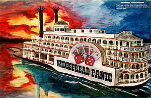 Concert poster from Widespread Panic - Mississippi Coast Coliseum, Biloxi, MS, USA - 2. Oct 2011
