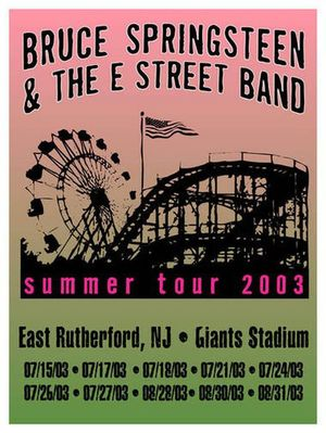 Concert poster from Bruce Springsteen - Giants Stadium, East Rutherford, NJ, USA - 18. Jul 2003