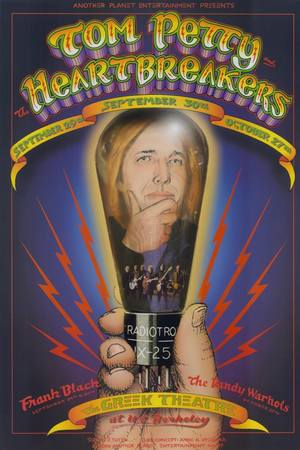 Concert poster from Tom Petty and The Heartbreakers - Greek Theatre, Berkeley, CA, USA - 27. Oct 2006