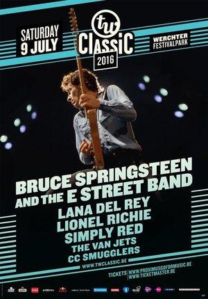 Concert poster from Bruce Springsteen - Festival Grounds, Werchter, Belgium - 9. Jul 2016