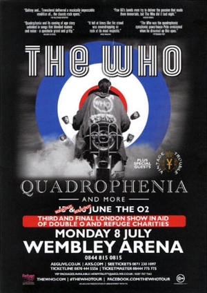 Concert poster from The Who - Wembley Arena, London, England - 8. Jul 2013