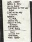 Setlist photo from Nirvana - Logan Campbell Centre, Auckland, New Zealand - 9. Feb 1992